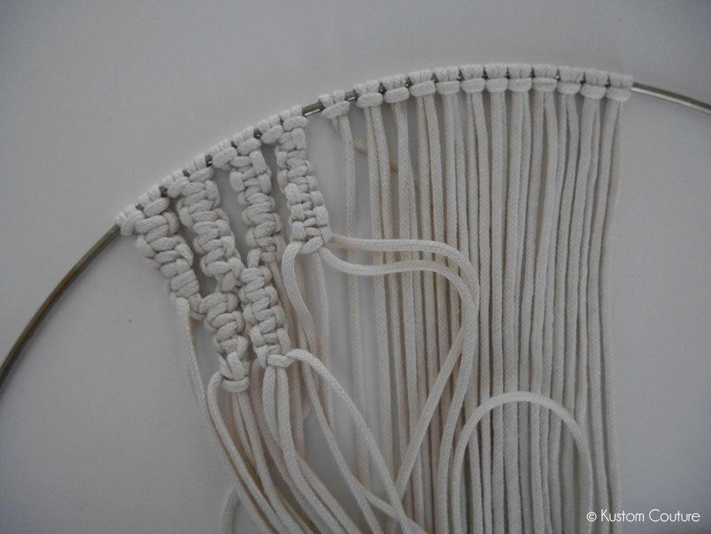 DIY Dreamcatcher macramé tie & die | Kustom Couture