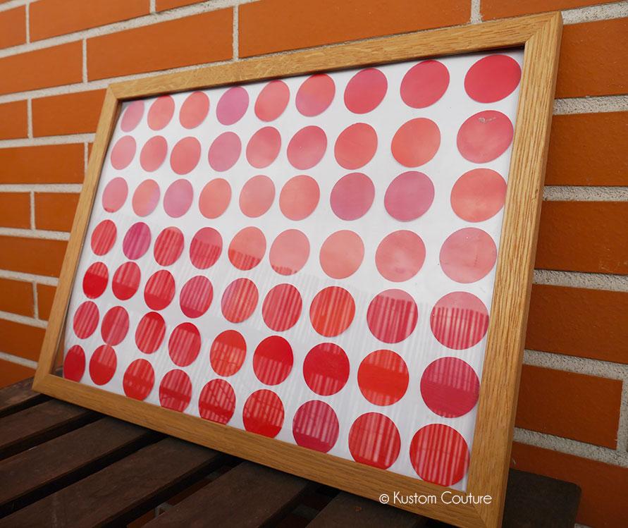 Cadre fait-main au dégradé rose | Kustom Couture