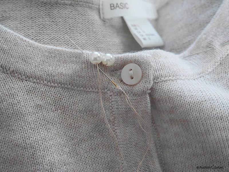 Customisation d'un gilet basique avec des perles | Kustom Couture