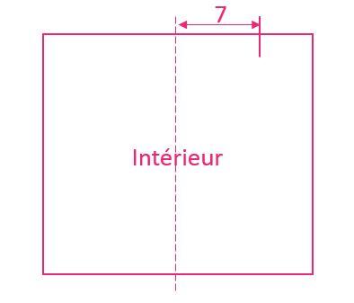Schéma protège-cahier en tissu | Kustom Couture