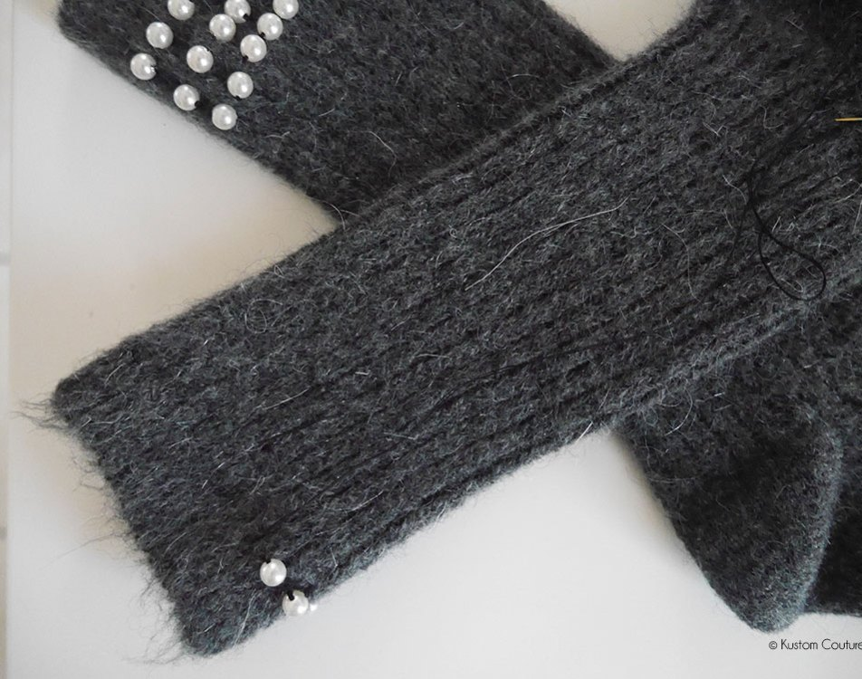 Customisation de chaussettes avec des perles | Kustom Couture