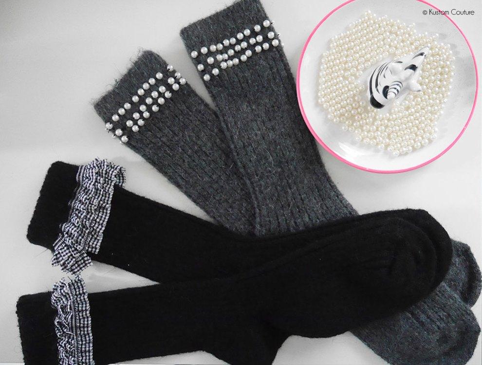 Customisation de chaussettes | Kustom Couture