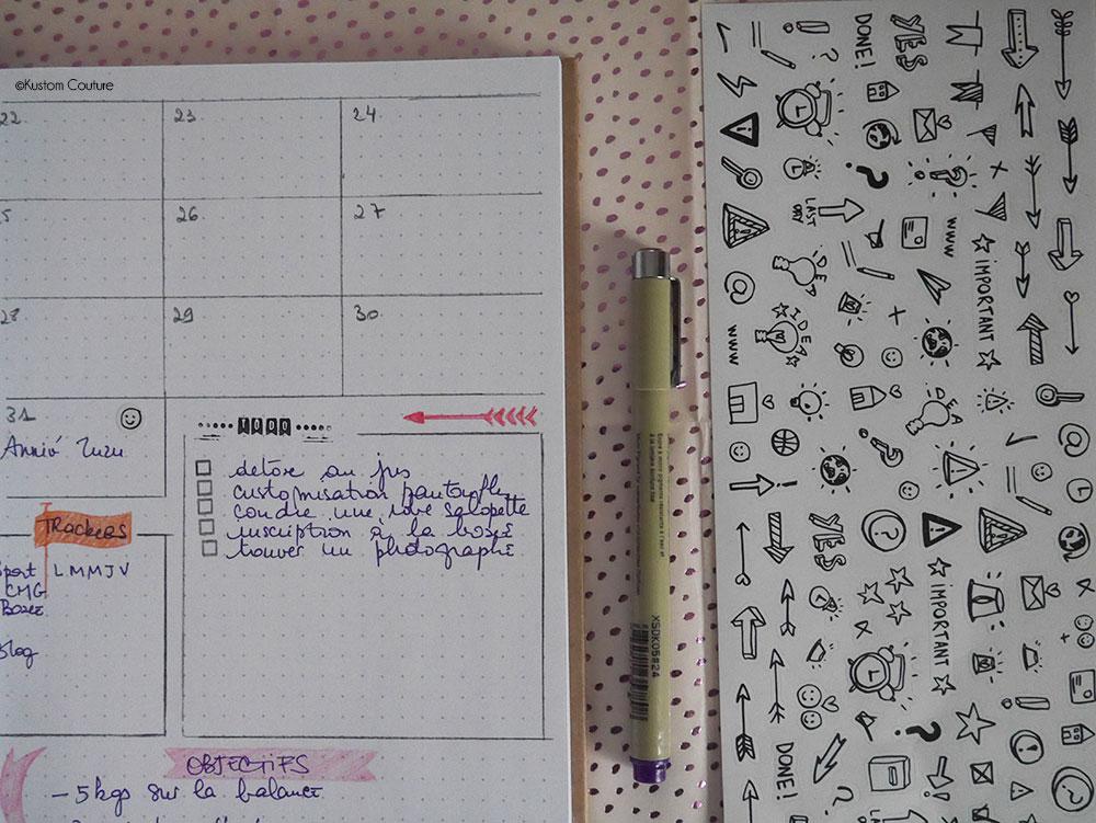 Créer son bullet journal pour 2019 | Kustom Couture