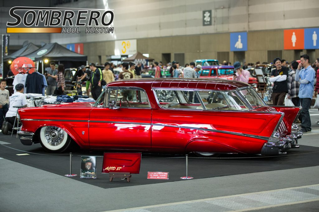 1957 Chevrolet Bel Air Nomad, 1957 Cadillac Sombrero, Candy Apple Red