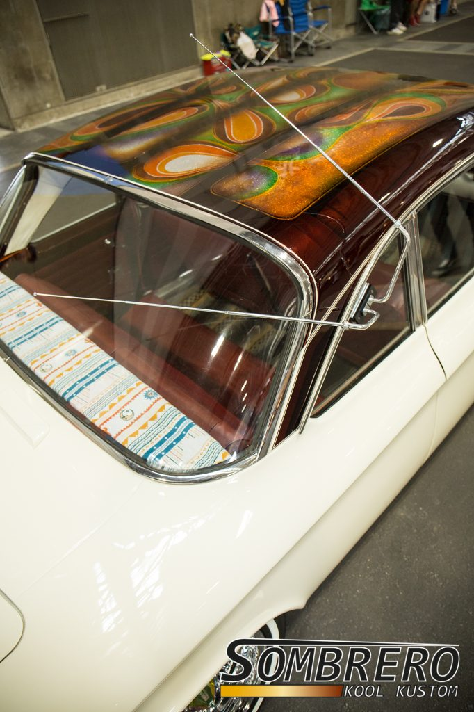 1964 Chevrolet Corvair, Lowrider, Lace Paint, Rabbit Ears Antennen