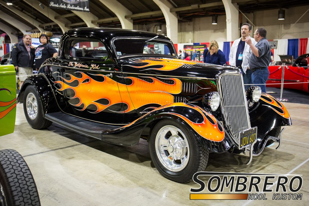 1934 Ford 3-Window Coupé, Martin Sheen, The California Kid, Hot Rod, Flamejob