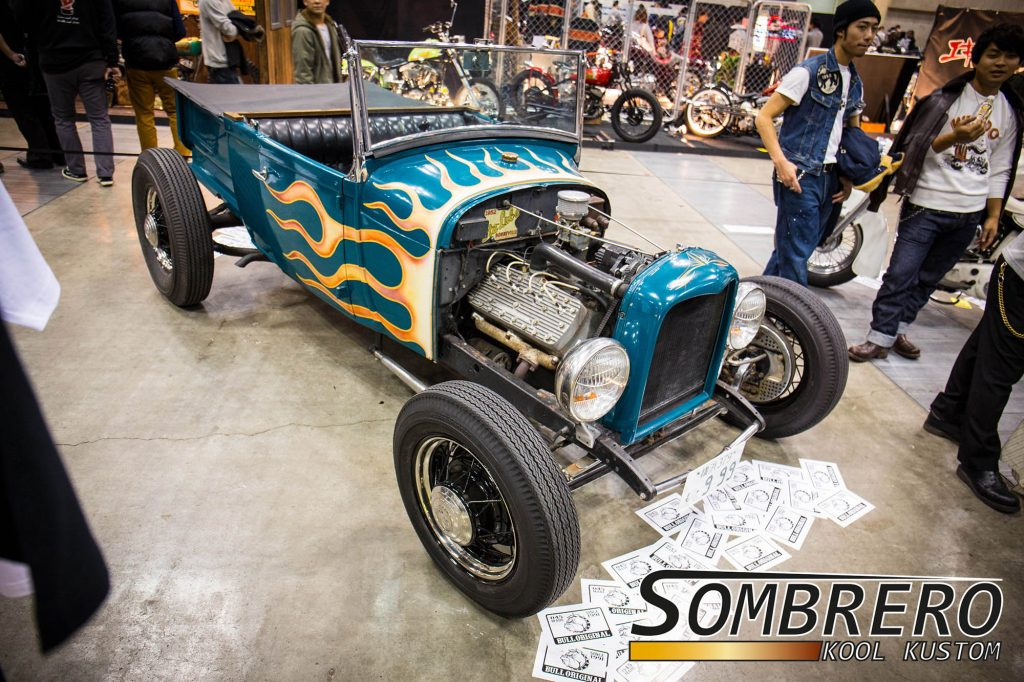 1928-29 Ford Model A Roadster Pick-up, Flammenlackierung, Flathead V8, Channeling, Hot Rod, Bull Original