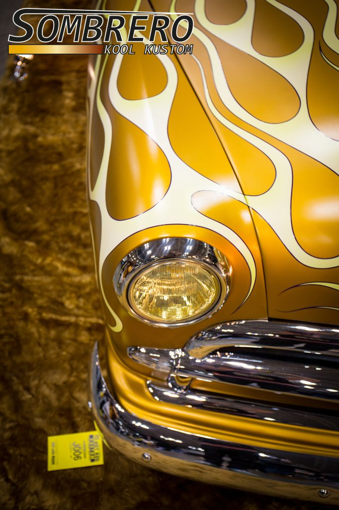 1949 Ford Coupé, Shoebox, Kustom Car, Flammenlackierung, Seaweed Flames