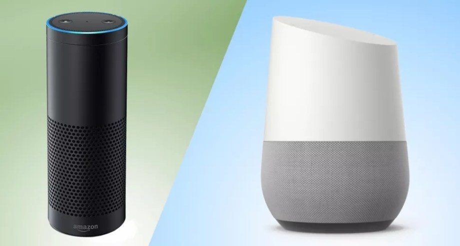 Google Home Amazon Asistan Görseli