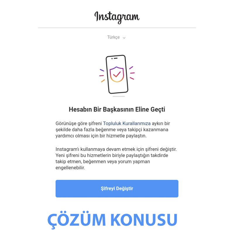 instagram hesabin bir baskasinin eline
