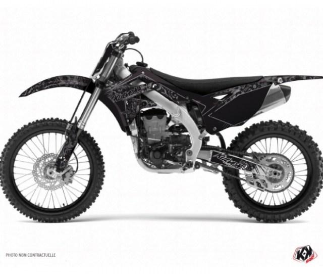 Kawasaki 125 Kx Dirt Bike Zombies Dark Graphic Kit Black