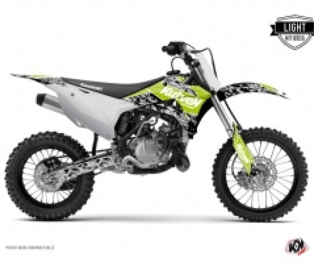 Kawasaki 85 Kx Dirt Bike Predator Graphic Kit Green Light