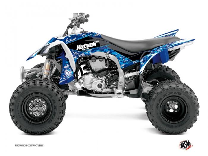 kit deco quad predator yamaha 450 yfz r bleu