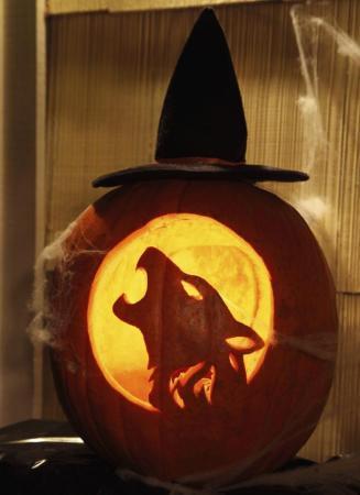 Faragott töklámpás farkas mintával (Fotó: Pinterest)