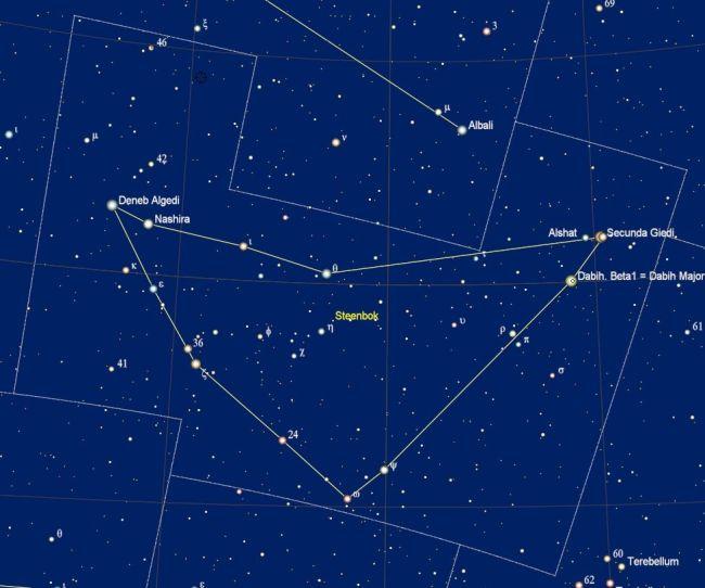 de namen van de sterren in het sterrenbeeld Capricornus - Steenbok