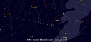 Er Rai in het sterrenbeeld Cepheus