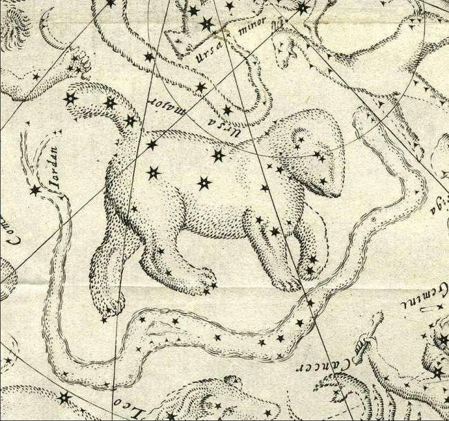 Het sterrenbeeld Jordanus naar Habrecht