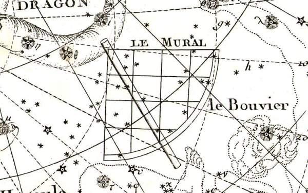 Het sterrenbeeld Quadrans Muralis volgens Lalande