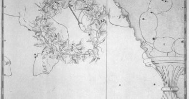 Corona Australis uit de steratlas van John Bevis