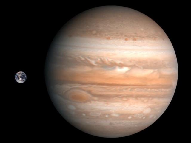 Jupiter & de Aarde