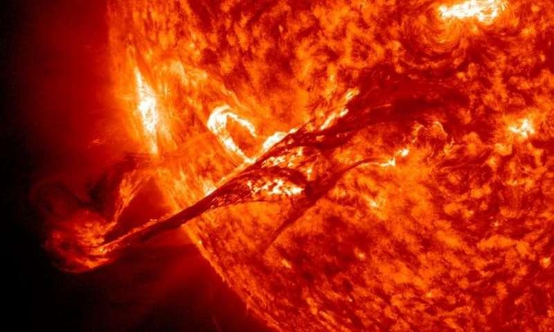 Uitbarsting op de Zon