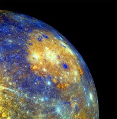 Het Caloris Bekken op Mercurius