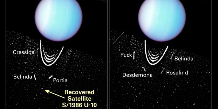 De herontdekking van de Uranusmaan Perdita door de Hubble Space Telescope