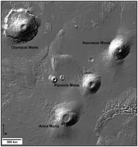 Tharsis Montes op Mars