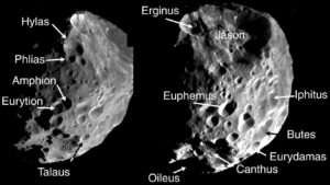 Diverse kraters op de maan hebben namen gekregen.