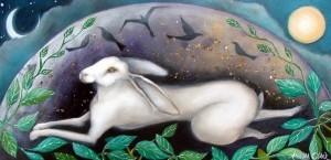 De witte haas op de Maan uit de Chinese mythologie.