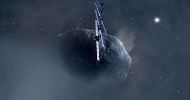 Churyumov-Gerasimenko krijgt bezoek van de Rosetta