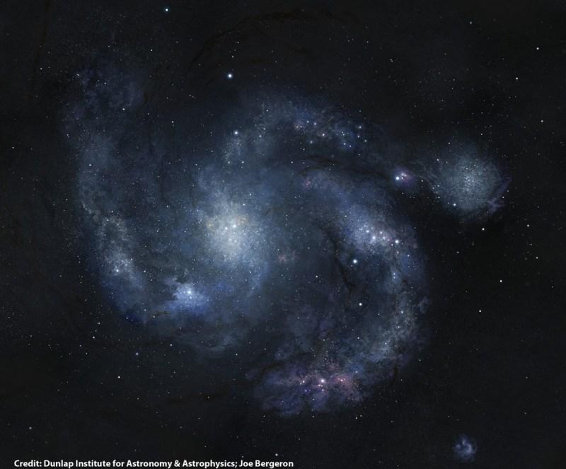 BX442, het oudste spiraalstelsel dat we kennen