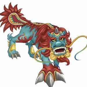 het mythologische monster Nian
