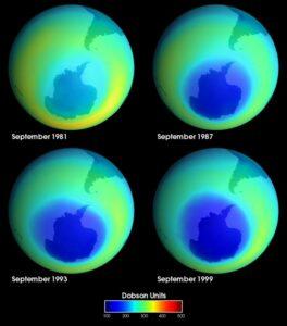 Het ozongat boven de zuidpool