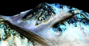Zout water op Mars