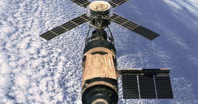 Het Amerikaanse ruimtestation Skylab