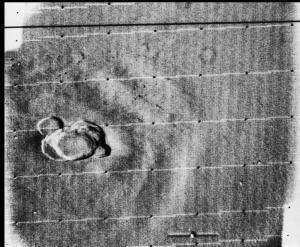 Olympus Mons gefotografeerd door de Mariner 9
