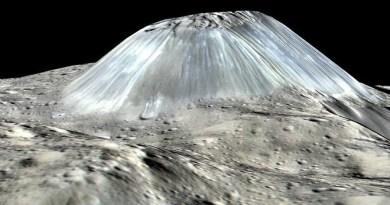 Ahuna Mons op Ceres