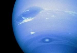 Neptunus en zijn wolkenbanden