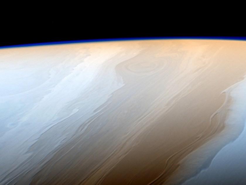 Het wolkendek van Saturnus