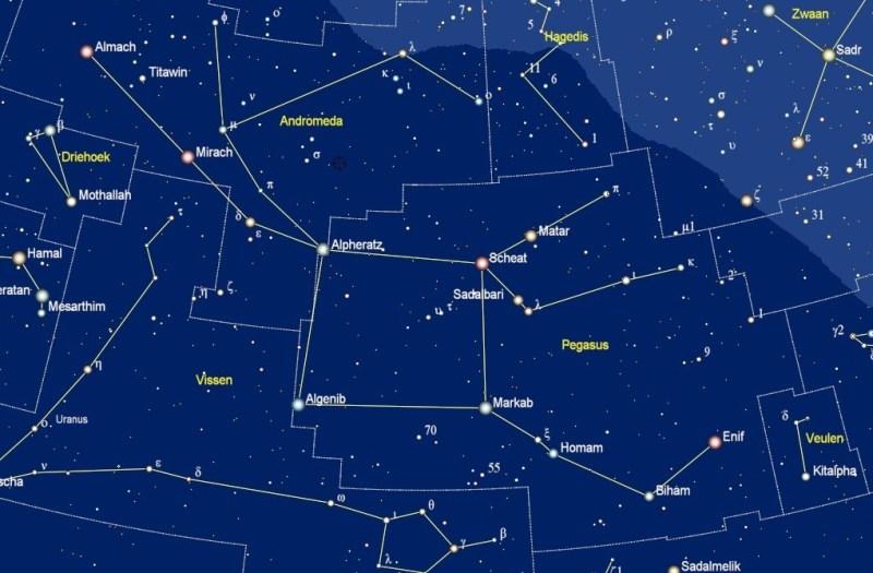 Alpheratz in het sterrenbeeld Andromeda