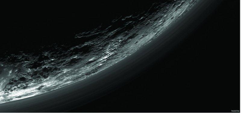 mistlagen boven Pluto