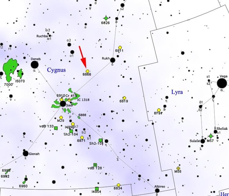Locatie van tabby's Ster in het sterrenbeeld Cygnus - Zwaan