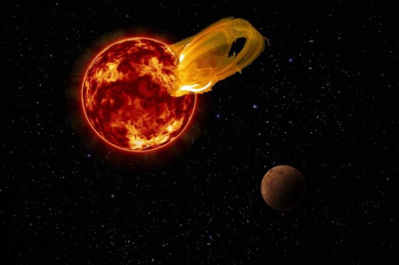 Zonnevlam bij Proxima Centauri