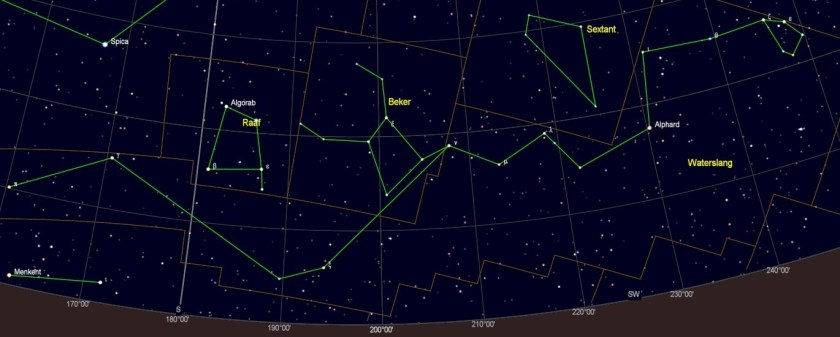 Alphard in het sterrenbeeld Hydra - Waterslang