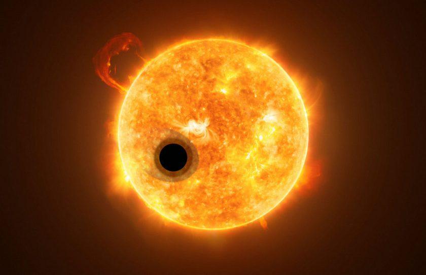 Hubble detecteert helium in de atmosfeer van een exoplaneet