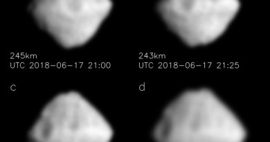Opname van asteroïde Ryugu door de Japanse Hayabusa ruimtesonde