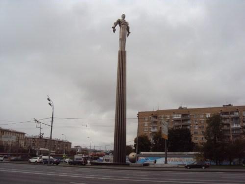 Monument ter ere van Joeri Gagarin, ergens in Rusland.