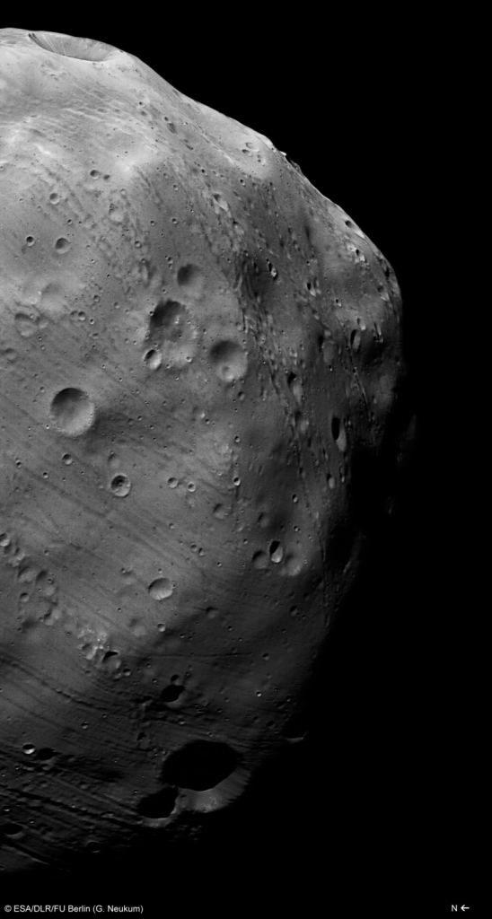 Phobos gefotografeerd door de Mars Express