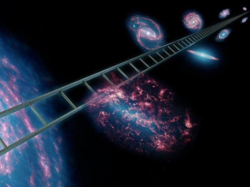 De kosmische afstandsladder - artist impression